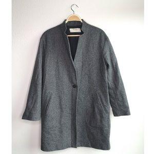Zara gray oversized pea coat